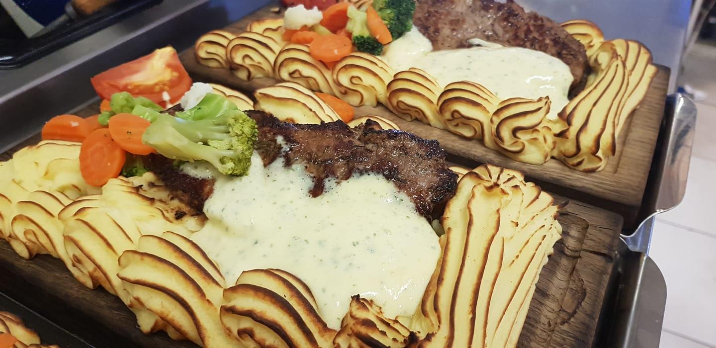 Plankstek med potatismos och grönsaker från Mona-Lisas kök